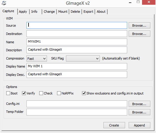 GImageX v2.1.0 Released for Windows 8.1
