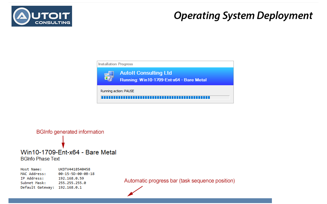 OSD Background - Branding and Debug Tools for SCCM OSD - AutoIt
